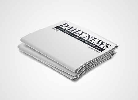folded newspaper: newspaper