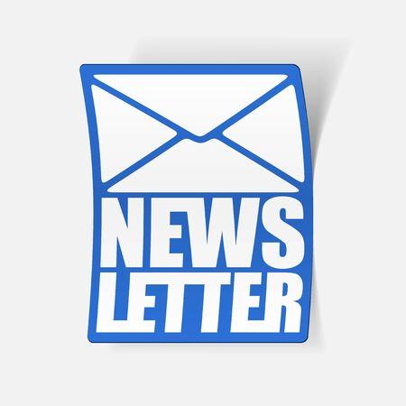 latest news, realistic sticker Stock Vector - 24029497