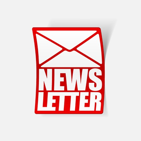 latest news, realistic sticker Stock Vector - 24029498