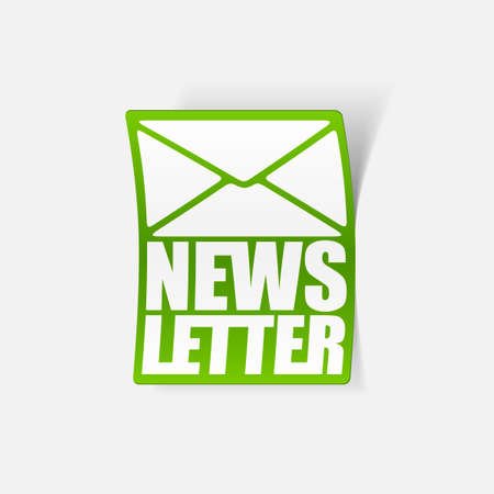 latest news, realistic sticker Stock Vector - 24029499