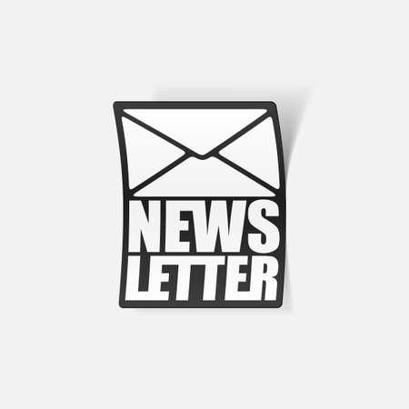 latest news, realistic sticker Stock Vector - 24029500