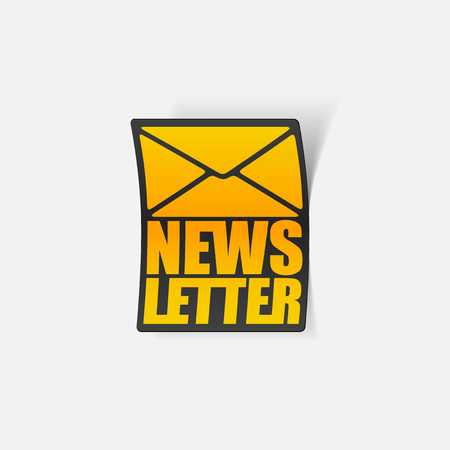 latest news, realistic sticker Stock Vector - 24029501