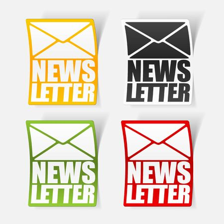latest news, realistic sticker Stock Vector - 24029502