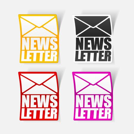 latest news, realistic sticker Stock Vector - 24029503