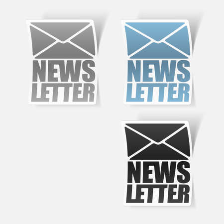 latest news, realistic sticker Stock Vector - 24029525