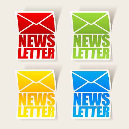 latest news, realistic sticker Stock Vector - 24029526