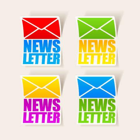latest news, realistic sticker Stock Vector - 24029527