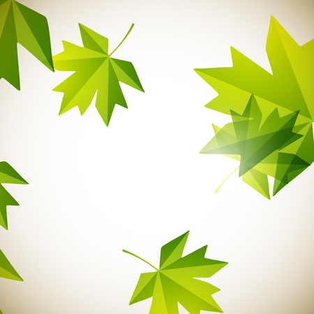maple leaf: autumn background Illustration