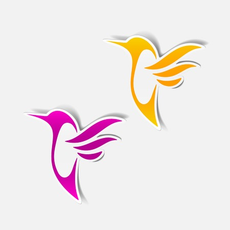 hummingbird sticker Vector