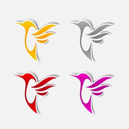 hummingbird sticker Vector