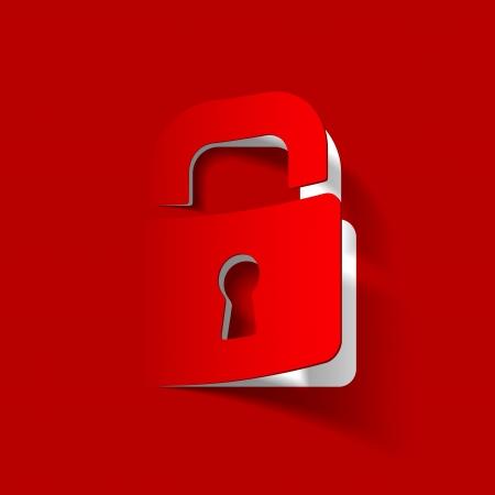 cyber attack: lock icon