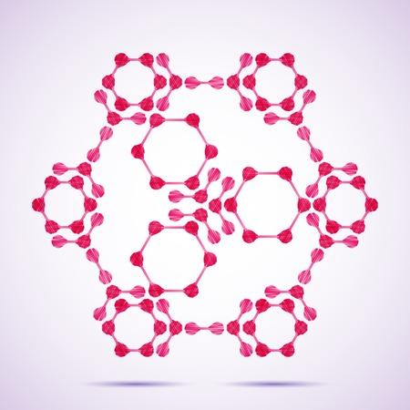deoxyribonucleic: molecular structure Illustration