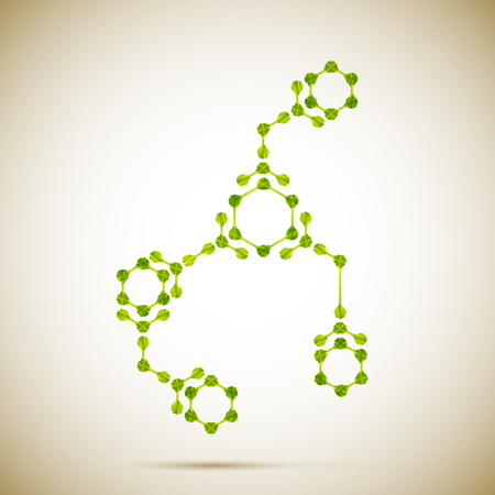 molecular structure Illustration
