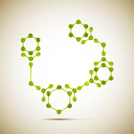 macromolecule: molecular structure Illustration