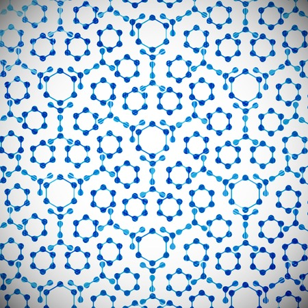 macromolecule: molecular structure, abstract background