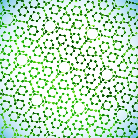alternating organic: molecular structure, abstract background