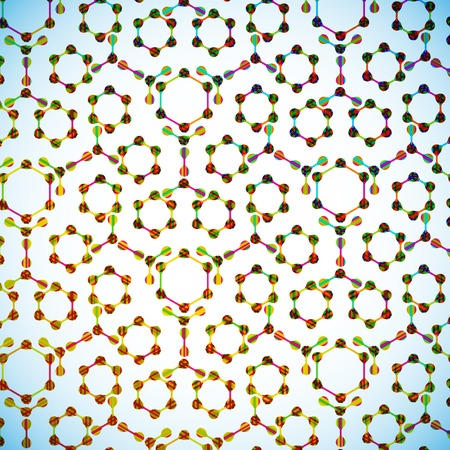 molecular structure, abstract background Stock Vector - 24031460