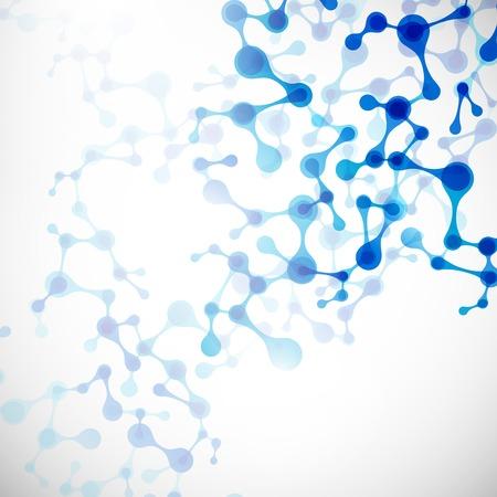 struktur: vacker struktur av DNA-molekylen Illustration