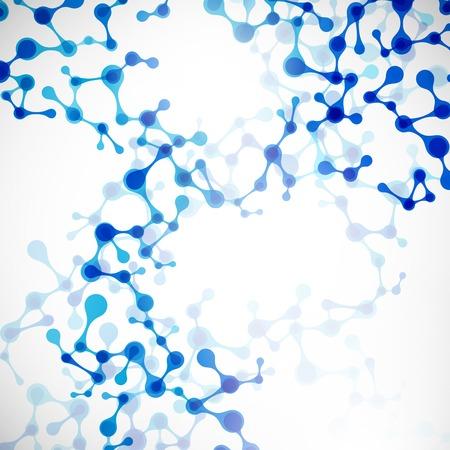 DNA 분자의 아름다운 구조 일러스트
