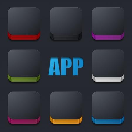 App pictogram Stock Illustratie