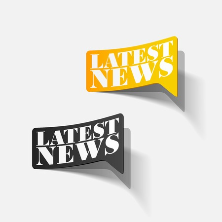 latest news, realistic sticker Stock Vector - 24004479