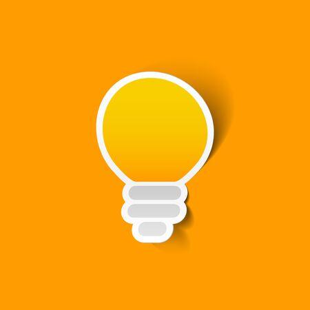 Light bulb sticker Illustration