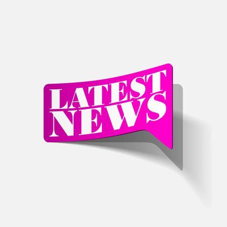 latest news, realistic sticker Stock Vector - 24004584