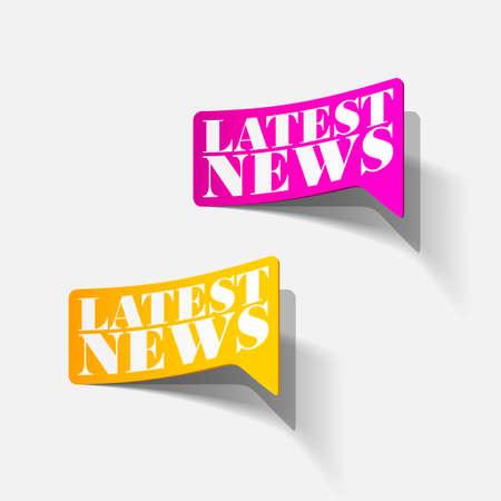 latest news, realistic sticker Stock Vector - 24004585