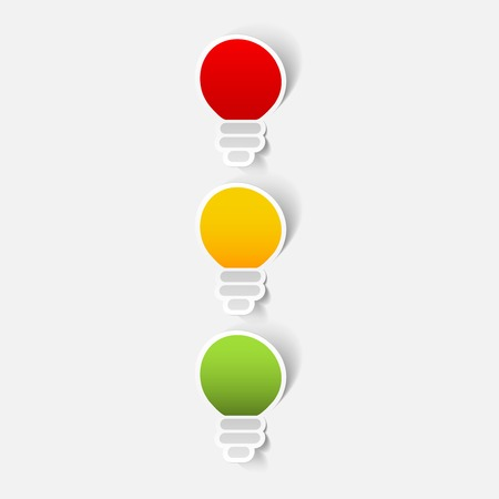 traffic lights sticker Vector