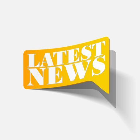 latest news, realistic sticker Stock Vector - 24004847