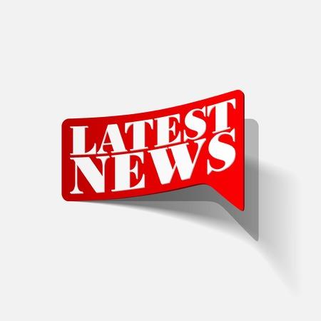 latest news, realistic sticker Stock Vector - 24004848