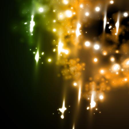 meteor rain in neon style Stock Vector - 24011296