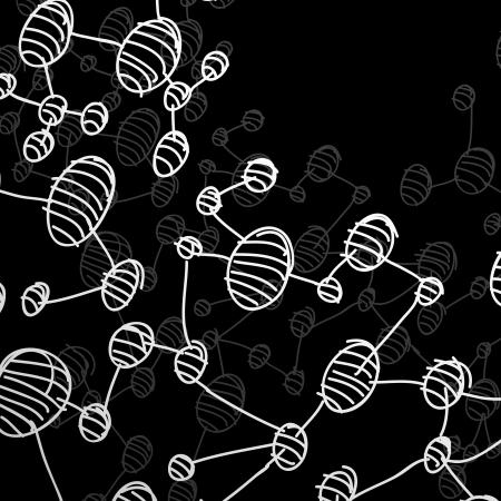 hand drawn DNA molecule Stock Vector - 24016718
