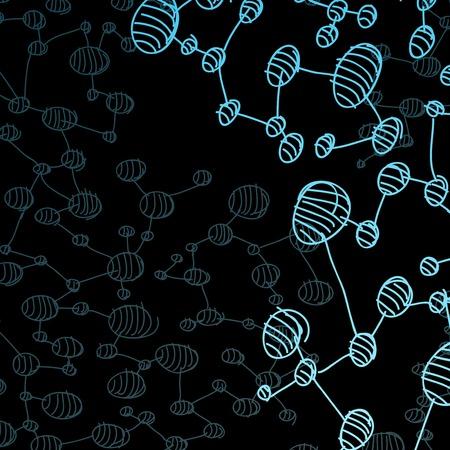 hand drawn DNA molecule Stock Vector - 24016714