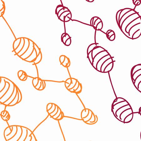 hand drawn DNA molecule Stock Vector - 24016717