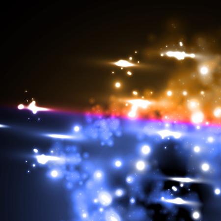 meteor rain in neon style Stock Vector - 24017091