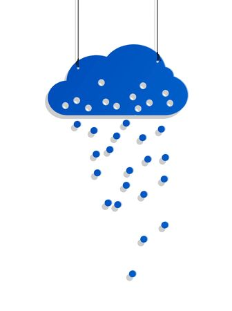 nodule: cloud style sticker on the ropes Illustration