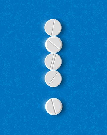 акцент: Восклицательный знак из таблеток
