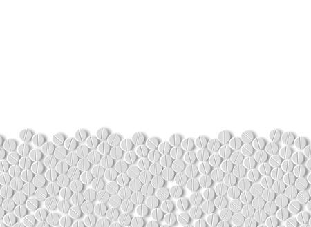 realistische achtergrond van pillen Stock Illustratie