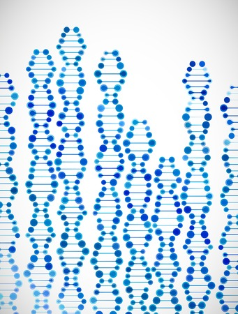 beautiful structure of the DNA molecule Ilustração