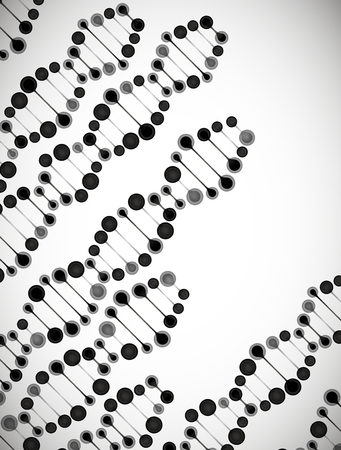 beautiful structure of the DNA molecule Illustration