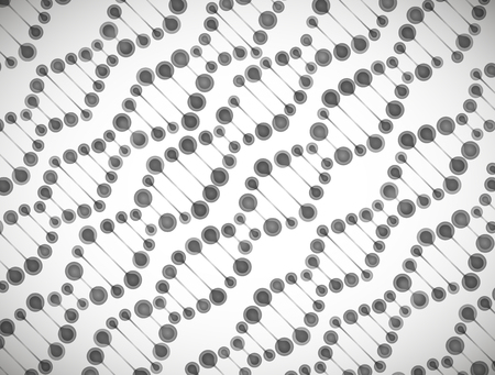 alternating organic: beautiful structure of the DNA molecule Illustration