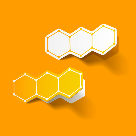 alternating organic: molecular structure, sticker