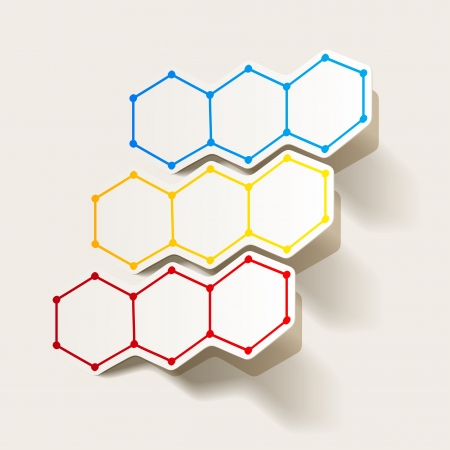 molecular structure, sticker Vector
