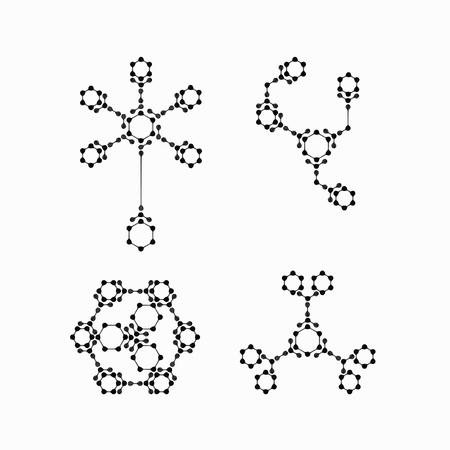alternating organic: molecular structure Illustration