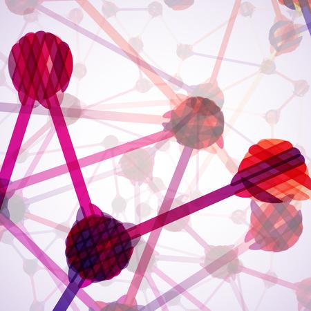 molecular structure abstract Stock Vector - 24501476