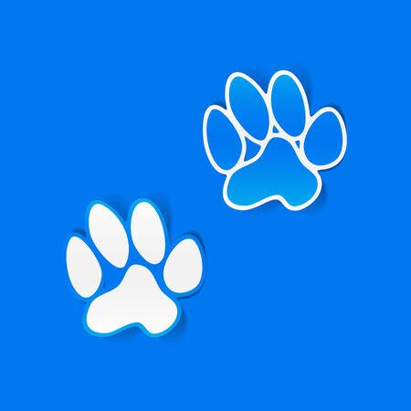 toe tag: sticker animal paw, realistic design element
