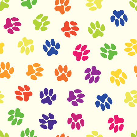 seamless pattern, animal footprints Vector