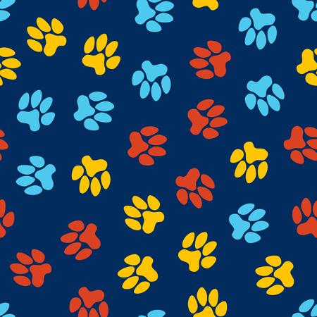 petshop: seamless pattern, animal footprints