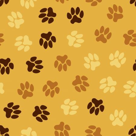 naadloze patroon, dier voetafdrukken